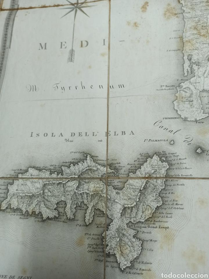 Mapas contemporáneos: CARTA MILITARE DEL REGNO DETRURIA AÑO 1806 POR G. BORDIGA. GRAN MAPA ENTELADO - Foto 5 - 286628748