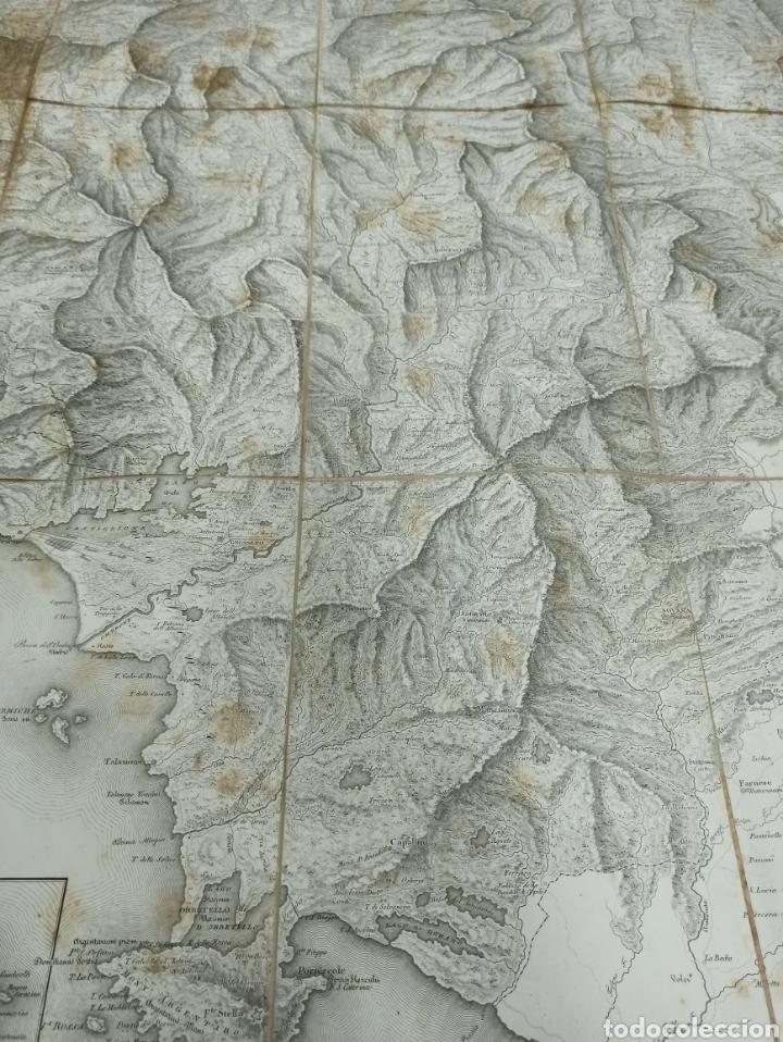 Mapas contemporáneos: CARTA MILITARE DEL REGNO DETRURIA AÑO 1806 POR G. BORDIGA. GRAN MAPA ENTELADO - Foto 6 - 286628748