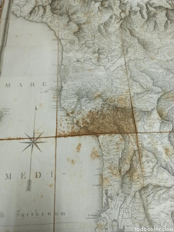 Mapas contemporáneos: CARTA MILITARE DEL REGNO DETRURIA AÑO 1806 POR G. BORDIGA. GRAN MAPA ENTELADO - Foto 7 - 286628748