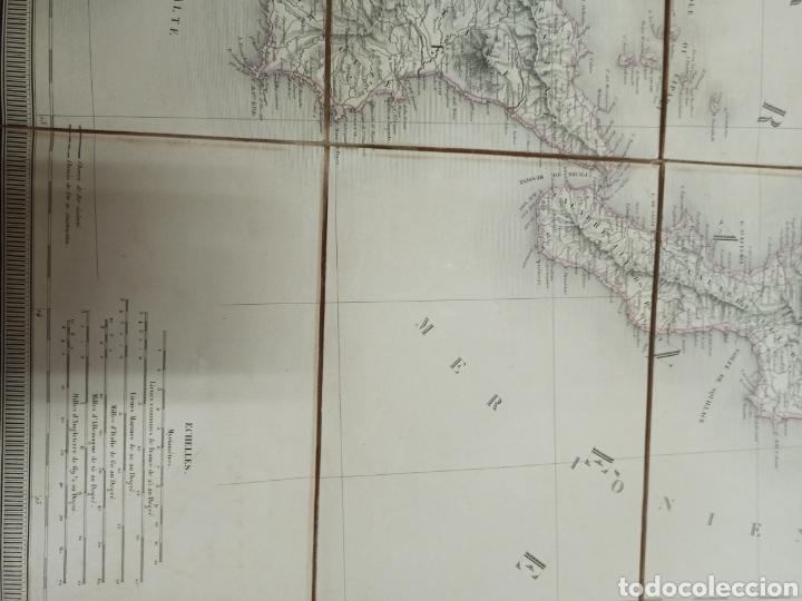 Mapas contemporáneos: J. ANDRIVEAU: CARTE PHYSIQUE & ROUTER DE LITALIE. París, 1848, Andriverau-Goujon límites coloreadod - Foto 4 - 286637328