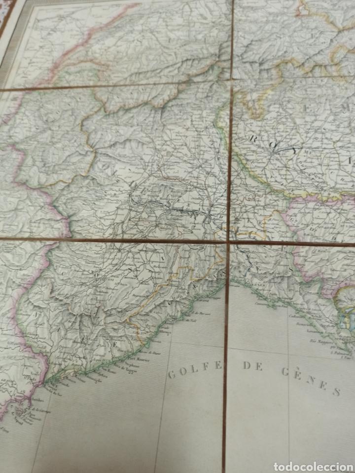 Mapas contemporáneos: J. ANDRIVEAU: CARTE PHYSIQUE & ROUTER DE LITALIE. París, 1848, Andriverau-Goujon límites coloreadod - Foto 7 - 286637328
