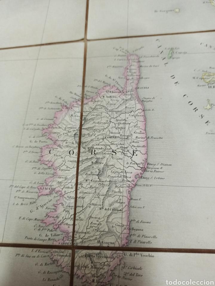 Mapas contemporáneos: J. ANDRIVEAU: CARTE PHYSIQUE & ROUTER DE LITALIE. París, 1848, Andriverau-Goujon límites coloreadod - Foto 9 - 286637328