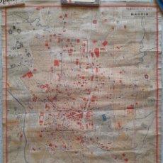 Mapas contemporáneos: ESPECTACULAR PLANO ANTIGUO DE MADRID. AÑOS 30,. Lote 287111278