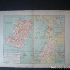 Mapas contemporáneos: 15 MAPA DE LAS POSESIONES POSESIONES ESPAÑOLAS EN AFRICA - COSTA OCCIDENTAL Y GOLFO DE GUINEA - AÑO. Lote 288077568