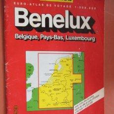 Mapas contemporáneos: EURO-ATLAS - BENELUX BELGIQUE, PAYS-BAS, LUXEMBOURG - EURO-CARTE.. Lote 288082313
