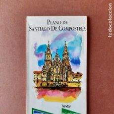Mappe contemporanee: PLANO CALLEJERO MAPA TURÍSTICO DE SANTIAGO DE COMPOSTELA. 1999. EL CORTE INGLÉS.. Lote 288216778