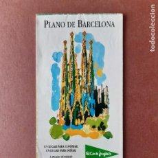 Mappe contemporanee: PLANO CALLEJERO MAPA TURÍSTICO DE BARCELONA. 1998. EL CORTE INGLÉS.. Lote 288217623