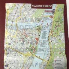 Mapas contemporáneos: PLANO DE LA CIUDAD DE COBLENZA ( KOBLENZ ) ALEMANIA, 2021, CON INFORMACION PUNTOS DE INTERES. Lote 289270033