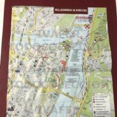 Mapas contemporáneos: PLANO DE LA CIUDAD DE COBLENZA ( KOBLENZ ) ALEMANIA, 2021, CON INFORMACION PUNTOS DE INTERES. Lote 289271343
