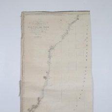 Mapas contemporáneos: CARTA ESFÉRICA COSTA DEL BRASIL - DESDE CABO SAN AGUSTÍN HASTA CABO FRÍO - AÑO 1827. Lote 291216643