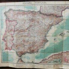 Mapas contemporáneos: MAPA POLÍTICO ESPAÑA Y PORTUGAL. MAPA ENTELADO.. Lote 291423658