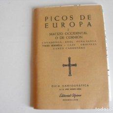Mapas contemporáneos: MAPA DE SENDERISMO, EXCURSIONISMO DE PICOS DE EUROPA. MACIZO OCCIDENTAL. EDITORIAL ALPINA.. Lote 292216913