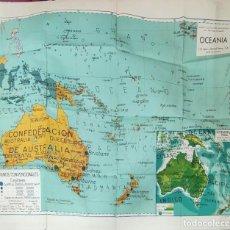 Mapas contemporáneos: MAPAS ESCOLARES MODERNOS - OCEANIA - SEIX BARRAL - BARCELONA -. Lote 292544368