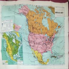 Mapas contemporáneos: MAPAS ESCOLARES MODERNOS - AMERICA DEL NORTE - SEIX BARRAL - BARCELONA -. Lote 292545848