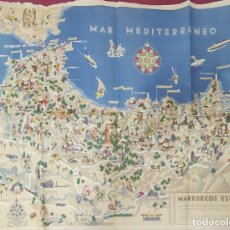 Mapas contemporáneos: AÑOS 40 - MAPA MARRUECOS ESPAÑOL - F. LOPEZ RUBIO - CARTOGRAFIA HISPANICA -. Lote 292550398