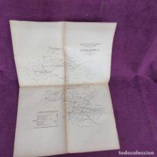 Mapas contemporâneos: ANTIGUO MAPA DEL S. XIX, DE CÓRDOBA, BOLETÍN OFICIAL, NEGOCIADO DE PLANOS DE CORREOS, 66 X 47 CMS.. Lote 293357798