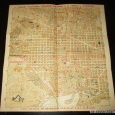 Mapas contemporáneos: PLANO DE BARCELONA COMPAÑÍA MECANOGRÁFICA GUILLERMO TRÚNIGER. ORIGINAL AÑOS 40.. Lote 293372078