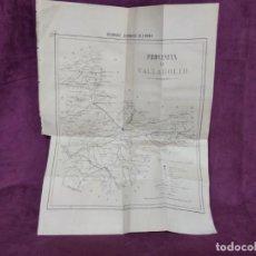 Mapas contemporâneos: ANTIGUO MAPA DE LA PROVINCIA DE VALLADOLID, EXTRAIDO DE LIBRO, UNOS 50 X 38 CMS.. Lote 293427743