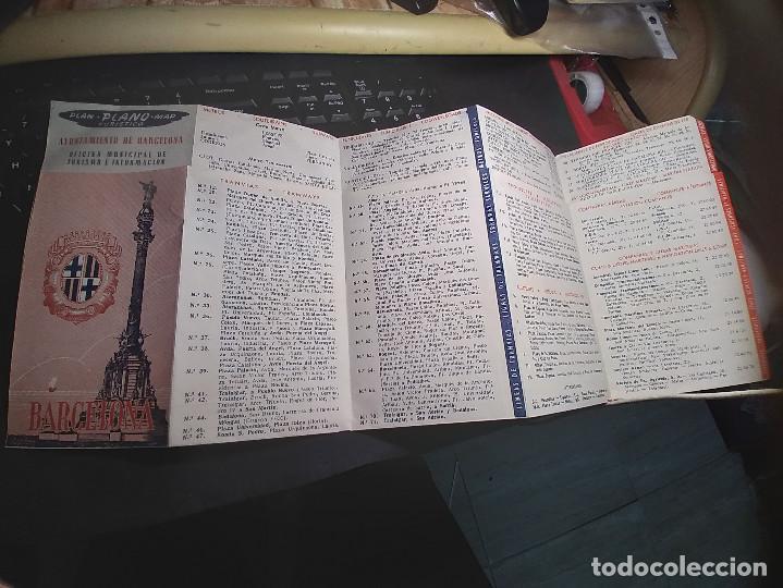 PLANO BARCELONA - DESPLEGABLE (Coleccionismo - Mapas - Mapas actuales (desde siglo XIX))