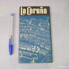 Mapas contemporáneos: MAPA O PLANO DESPLEGABLE DE LA CORUÑA. EDITORIAL P. AUSÍN. 1961. Lote 293829648