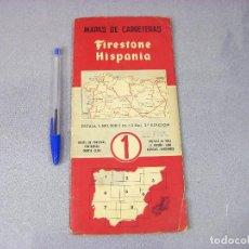 Mapas contemporáneos: MAPA O PLANO FIRESTONE HISPANIA Nº 1 . 2ª EDICIÓN DE 1958. NORTE DE PORTUGAL, PONTEVEDRA, ORENSE. Lote 293830408