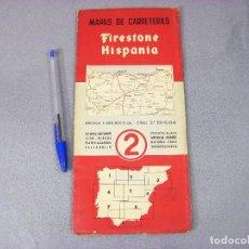 Mapas contemporáneos: MAPA O PLANO FIRESTONE HISPANIA Nº 2 . 2ª EDICIÓN DE 1958. ASTURIAS, SANTANDER, LEÓN, BURGOS. Lote 293830848