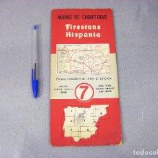 Mapas contemporáneos: MAPA O PLANO FIRESTONE HISPANIA Nº 7 . 2ª EDICIÓN DE 1959. FARO, BEJA, HUELVA, SEVILLA, CÓRDOBA. Lote 293831143