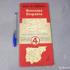 Mapas contemporáneos: MAPA O PLANO FIRESTONE HISPANIA Nº 4 . 2ª EDICIÓN DE 1958. COIMBRA, LEIRA, BRANCO CACERES, TOLEDO. Lote 293832098