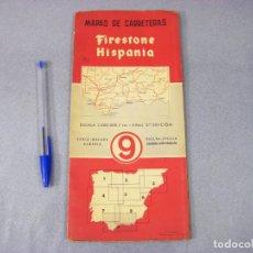 Mapas contemporáneos: MAPA O PLANO FIRESTONE HISPANIA Nº 9 . 2ª EDICIÓN DE 1962. CADIZ, MÁLAGA, ALMERÍA, HUELVA, SEVILLA. Lote 293832503