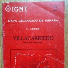 Mapas contemporáneos: MAPA GEOLÓGICO DE ESPAÑA - VILLACARRIEDO - 59 (19-5) - 1978. Lote 295408113