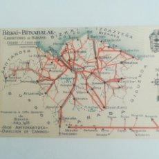 Mapas contemporáneos: CARRETERAS DE BIZKAYA. AÑO 1918.. Lote 295489858