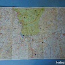 Mapas contemporáneos: MAPA VALLE DE AYORA - COFRENTES. CARTÓGRAFO J. GIJÓN HUESO. FOLLETO EDITA HIDROELÉCTRICA ESPAÑOLA. Lote 296044418