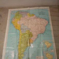 Mapas contemporáneos: MAPA ESCOLAR GRANDE AMERICA DEL SUR.. Lote 297044703