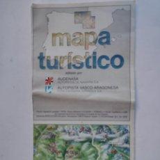 Mapas contemporáneos: MAPA TURISTICO AUTOPISTA VASCO ARAGONESA - AUTOPISTAS DE NAVARRA - AUDENASA - A-68 - 1987. Lote 297113103