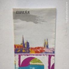 Mapas contemporáneos: MAPA + INFO - LA RIOJA ESPAÑA - LOGROÑO - TURESPAÑA 1990 - TURISMO. Lote 297113518