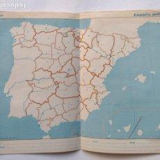 Mapas contemporáneos: MAPA ESPAÑA POLITICO - LAMINA ORIGINAL DE EDIGOL 1984 PARA ALUMNOS EGB. Lote 297113733