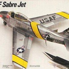Maquetas: MAQUETA TESTORS / FUJIMI 1/72 NORTH AMERICAN F-86F-30 SABRE #344 - SIN CAJA. Lote 106595211