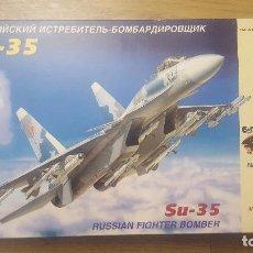 Maquetas: MAQUETA 1/72 - AVION SU-35 RUSSIAN FIGHTER BOMBER - CY-35 - BERKUT 72-006. Lote 86767152
