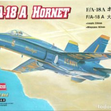 Maquetas: MAQUETA HOBBY BOSS 1/72 MCDONNELL DOUGLAS F-18A HORNET 'BLUE ANGELS' + CALCAS EJÉRCITO DEL AIRE. Lote 98715703