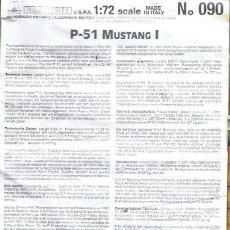 Maquetas: INSTRUCCIONES DE MONTAJE DEL NORTH AMERICAN P-51 MK.I DE ITALERI ESCALA 1/72. Lote 103863491