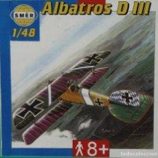 Maquetas: MAQUETA AVIÓN ALBATROS D III, 1/48, BUM – SMER (NO TIENE CALCAS). Lote 106600859