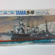 Maquetas: JAPAN LIGHT CRUISER TAMA. TAMIYA 1/700. Lote 57037351