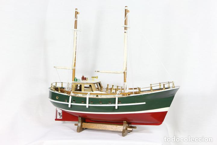 yate cantabrico barco madera modelismo capitan decoracion marina