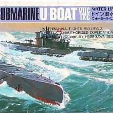 Maquetas: MAQUETA HASEGAWA 1/700 SUBMARINOS ALEMANES U-BOOT VIIC & IXC #126 (WL-S126) - 1987. Lote 99312279