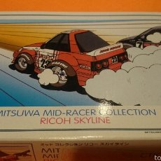 Maquetas: MITSUWA MID RACER COLLECTION RICOH SKYLINE. Lote 54771262
