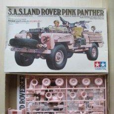 Maquetas: LAND ROVER PINK PANTHER, KIT PLÁSTICO ESCALA 1:35 TAMIYA, NUEVO A ESTRENAR. Lote 56694159