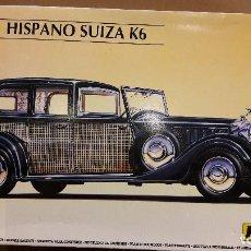 Maquetas: MAQUETA HELLER / HISPANO SUIZA K6 - 1934 / ESCALA 1:24 / ALGO MONTADO.. Lote 92836565