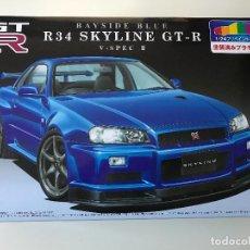 Maquetas: MAQUETA AOSHIMA NISSAN SKYLINE R34 GT-R V-SPEC II BAYSIDE BLUE. Lote 98355867