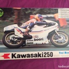 Maquetas: KAWASAKI 250 1:9 TONI MANG WORLD CHAMPION 1980 1:9 PROTAR 179 MAQUETA MOTO. Lote 98687040