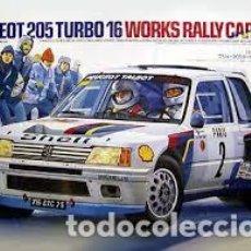 Maquetas: TAMIYA - PEUGEOT 205 TURBO 16 WORKS RALLY CAR 24054 1/24. Lote 103612871